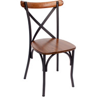 BFM Seating Henry Metal Frame X-back Chair [JS88CASH-SB]