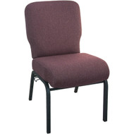 Advantage Signature Elite Black Cherry Church Chair [PCRCB-116] - 20.5 in. Wide