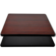 "Advantage 36""x36"" Restaurant Table Top - Black / Mahogany Reversible [CT3636-BMBLK]"
