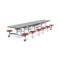 Virco 12 ft. Mobile Cafeteria Stool Table - 15-inch Seat Height [MTS15271212]