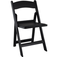 Advantage Black Resin Folding Chairs [RFWCA-101]