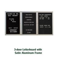 Ghent 36x72-inch Enclosed Black Letter Board - Satin Aluminum Frame [PA33672B-BK]