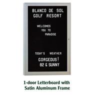 Ghent 36x24-inch Enclosed Black Letter Board - Satin Aluminum Frame [PA13624B-BK]