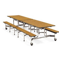 Virco 8 ft. Mobile Cafeteria Bench Table - 15-inch Seat Height [MTB15278]