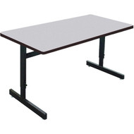Correll 6 ft. Computer Table - Adjustable Height Melamine Laminate Top [CSA3072M]