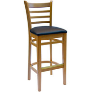 BFM Seating Burlington Natural Wood Ladder Back Restaurant Bar Stool [WB101NTV]