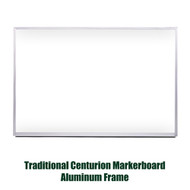 Ghent 4'x8' Traditional Centurion Aluminum Frame Whiteboard [M1-48-4]