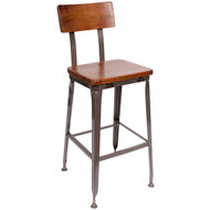 BFM Seating Lincoln Industrial Bar Stool