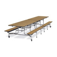 Virco 12 ft. Mobile Cafeteria Bench Table - 15-inch Seat Height [MTB152712]