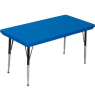 Correll 4 ft. Rectangular Activity Table - Blow-molded Plastic [AR2448-REC]