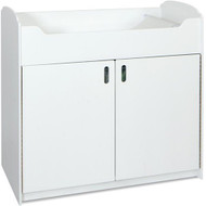Foundations Serenity White Wood Changing Table with Storage [1773127]