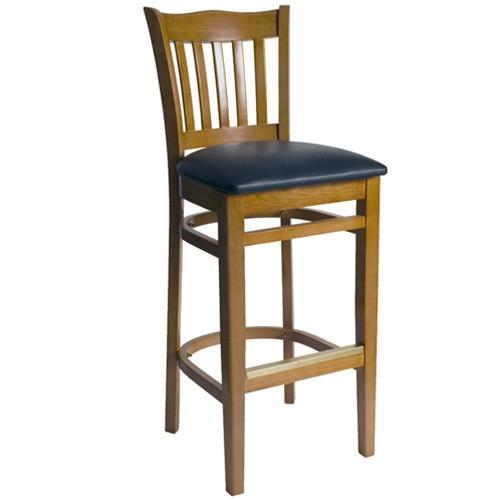 Bfm Seating Princeton Honey Oak Wood School Back Bar