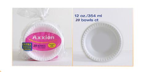 AXX12R - 12 OS. FOAM BOWL  20 BOWLS