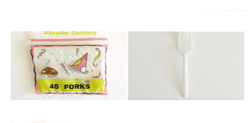 AXF047 -  PLASTIC  45 PIECES FORKS