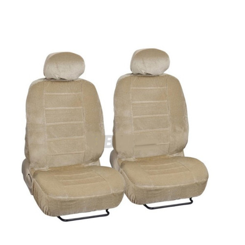 SC1901 - Deluxe Regal Front Seat Covers Low Back 4pcs BEIGE