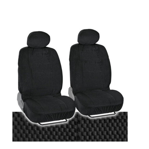 SC1905 - Deluxe Scottsdale Front Seat Covers High Back 2pcs BLACK