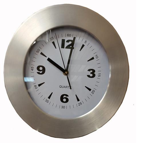 "CPW5612 - 11"" ALUMINUM FRAME FASHION WALL CLOCK"