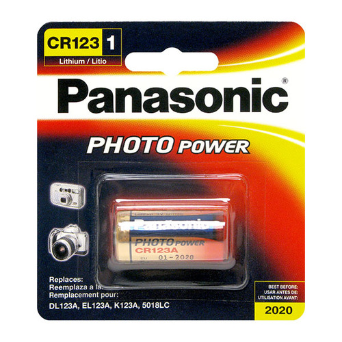 Panasonic CR123A Photo Power Lithium battery, 1450mAh