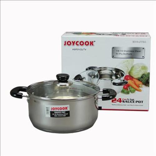 Joycook  24cm ( 5.5 QT ) stainless steel Sauce Pot
