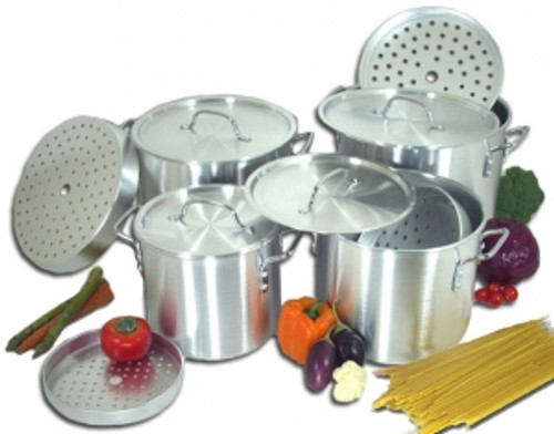 15 pcs stock pot set  WITH Steamer ( 20QT , 24QT , 32QT , 40QT, 50QT )