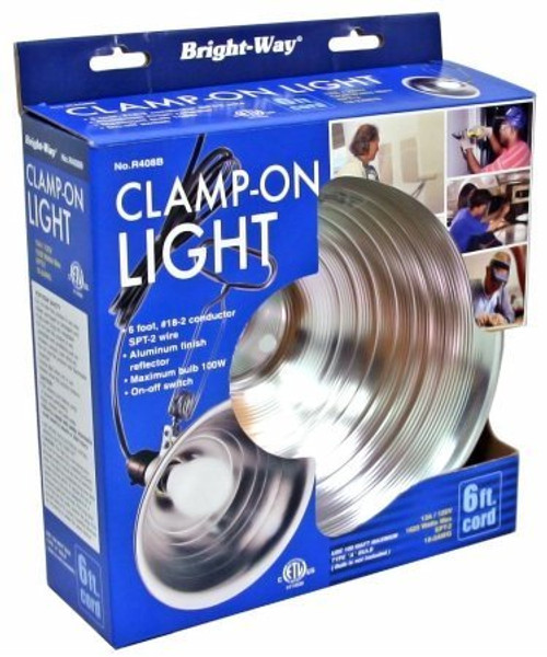 "Bright Way R408b 8.5"" Aluminum Clamp On Light by Bright Way"