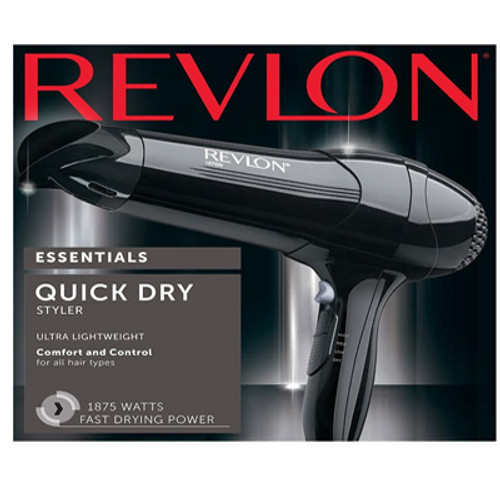 Revlon Essentials 1875W Fast Dry Hair Dryer, RV408