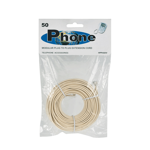 50FT MODULAR TELEPHONE EXTENSION CORD
