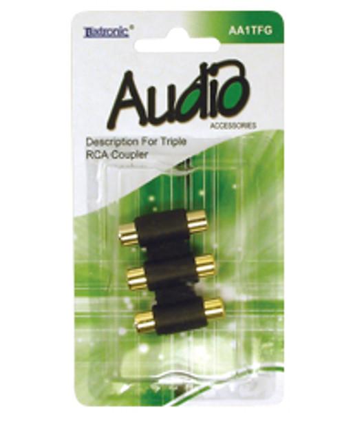 AA1TFG-Triple RCA Coupler