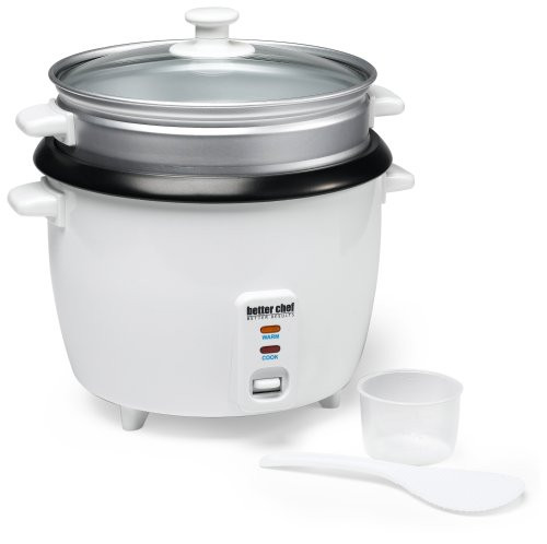 Better Chef IM-411ST 20-Cup (Cooked) Rice Cooker with Food Steamer