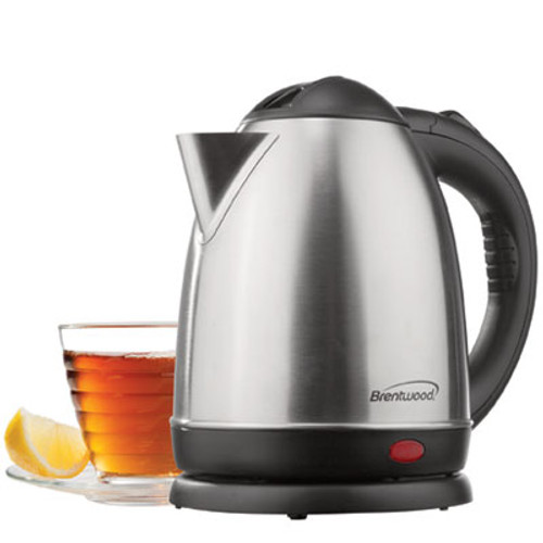 1.5 Liter Stainless Steel Electric Cordless Tea Kettle; Brushed Finish