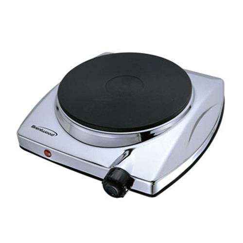 Electric Single Hotplate; Chrome Finish
