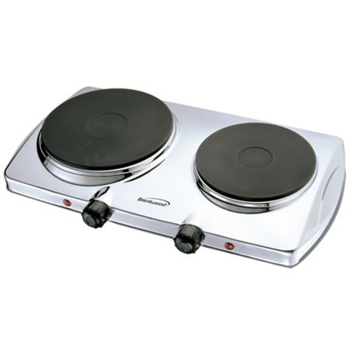 (TS-372) Electric Double Hotplate; Chrome Finish