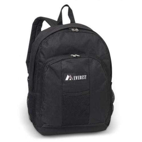 Backpack w/ Front & Side Pockets BLK
