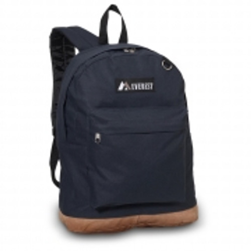 Suede Bottom Backpack  NAVY
