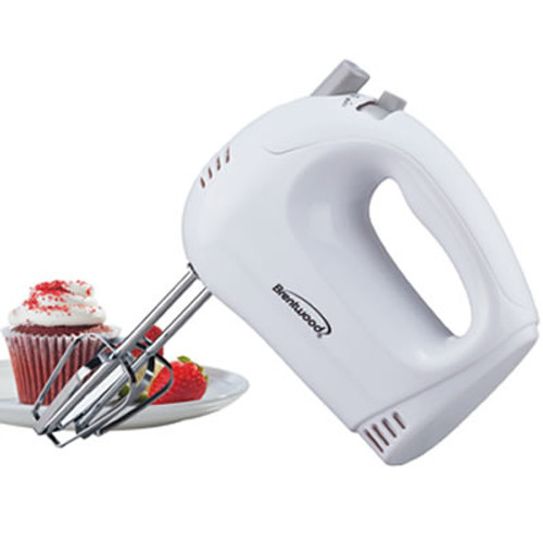 5 Speed Hand Mixer in White