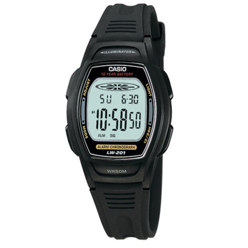 Casio Women's LW201-1AV Digital Alarm Chronograph Watch