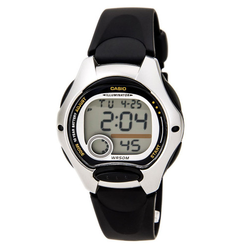 Casio LW200-1A Ladies Black Digital Sports Watch 50m Dual Time Daily Alarm Small
