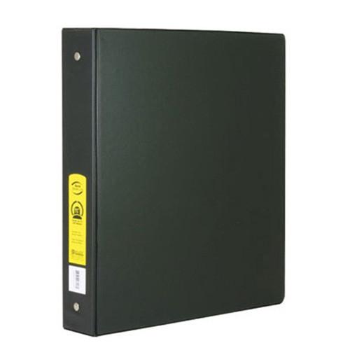"BAZIC 1  1/2"" Black 3-Ring Binder W/ 2-Pockets"