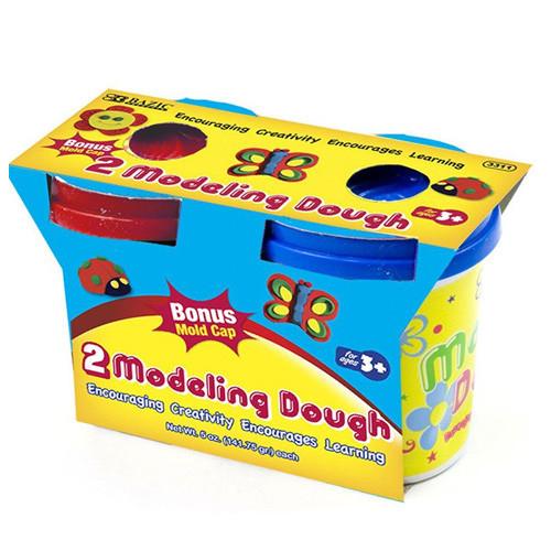 BAZIC 5 Oz. Multi Color Modeling Dough (2/Pack)
