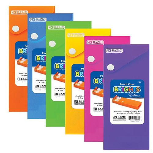 BAZIC Bright Color Slider Pencil Case W/ PDQ Display