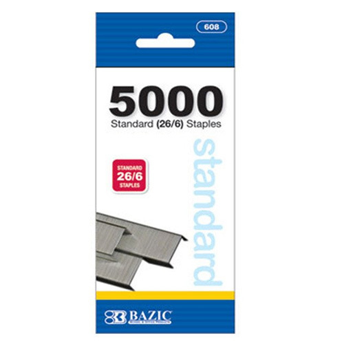 BAZIC 5000 Ct Standard (26/6) Staples