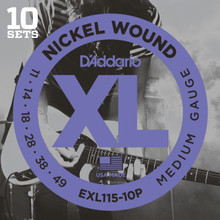 D'addario EXL115 Blues/Jazz Rock Guitar Strings 10 sets Pro Pack