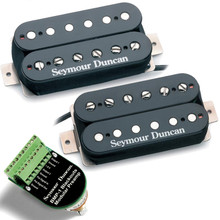 Seymour Duncan AHB-10 Blackouts Modular Preamp & Coil Pack Humbucker Set - black