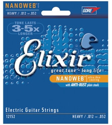 Elixir Nanoweb Electric Heavy 12-52 strings
