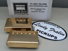 Lindy Fralin Pure PAF Stock Humbucker Pickup set - gold (7.5k/8.0k)