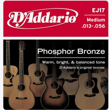 D'addario Phosphor Bronze Acoustic Guitar Medium EJ17 Strings