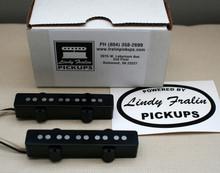 Lindy Fralin Stock Jazz Bass 5 string pickup set - black