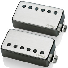 EMG 57 / 66 Active Alnico V Humbucker set - brushed chrome