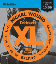 D'addario EXL110-7 Regular Light Seven String Electric Guitar Strings