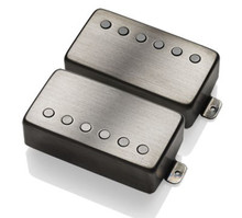 EMG 57 / 66 Active Alnico V Humbucker set - brushed black chrome